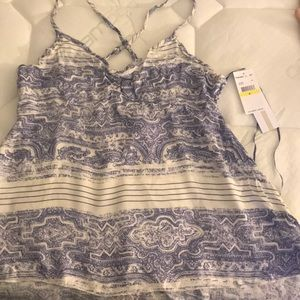 O'neill blue and white cami size M